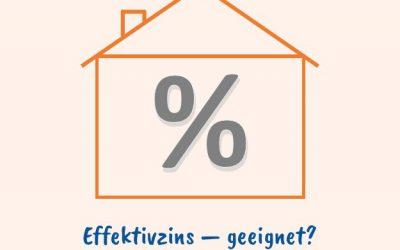 Effektivzins bei Immobiliendarlehen